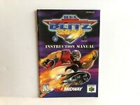 NFL Blitz 2000 N64 Manual Instruction Booklet Insert ONLY