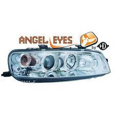 Par faros delanteros TUNING PUNTO 1999-03 cromados con anillos ojos de angel