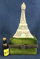 Eiffel Tower Replica Ceramic Trinket Box World Touring Site