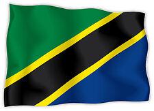 Tanzania Tanzanie Tansania bandiera etichetta flag sticker 15cm x 11cm