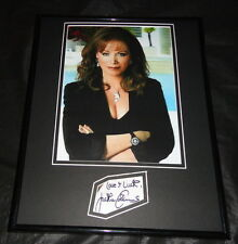 Jackie Collins Signed Framed 11x14 Photo Display