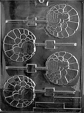 FANCY TURKEY LOLLY POP Chocolate Candy molds thanksgiving mold favors turkeys