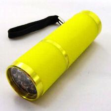 New Portable Sports Camping Bright 9 LED Lamp Mini Flashlight Yellow Torch 3*AAA