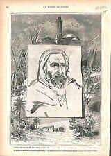 Abd el-Kader Emir Abdelkader El Djezairi Algerie Algeria GRAVURE OLD PRINT 1883