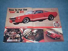 "1965 Shelby GT350 Mustang Fastback G-Machine Article ""How to Put the ""Gee"" in GT"