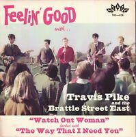 "TRAVIS PIKE & BRATTLE STREET EAST Watch Out Woman vinyl 7"" garage punk beat"