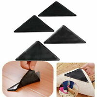 Rug Grippers Stopper Anti Slip Rubber Corner Mat Washable Carpets Pad 4PCS NEW