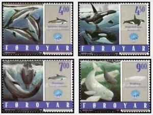 Timbres Cétacés Baleines Duaphins Féroé 330/3 ** année 1998 (45309B) - cote:10 €