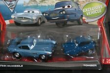 """DISNEY PIXAR CARS 3 """"2 PACK FINN McMISSILE & TOMBER"""" IMPERFECT PACKAGE, SHIP WW"""