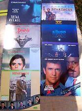 8 Laserdiscs Lethal Weapon 2, MIB, Total Recall, Dancers, Spartacus, Dracula etc