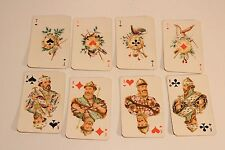 VINTAGE RARE NICE USSR RUSSIA SET OF 52+2 SMALL PLAYING CARDS/HUNTING SCENES