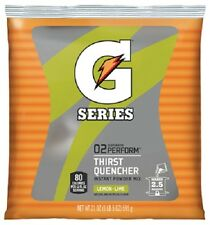 32 pack Gatorade 03969 21oz Lemon Lime Concentrated Powder Packets Makes 2.5 gal