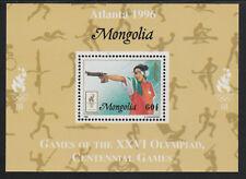 Mongolia 5564 - 1996 OLYMPICS - PISTOL SHOOTING  DELUXE SHEET unmounted mint