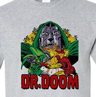 Dr. Doom T-shirt II vintage retro Bronze Age comics heather grey superhero tee