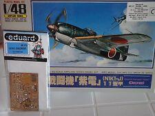 """KAWANISHI SHIDEN-KAI N1K1-J """"GEORGE"""" 1/48 ARII + PHOTOETCHED DETAIL SET EDUARD"""