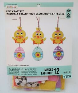 Creatology Easter Felt Craft Kit. Makes 12. Ages 4+. Chicken and eggs.