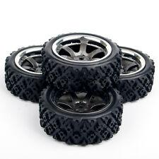 RC 1:10 HPI Racing Off Road 4Pcs Rubber Tires Wheel Rims Set 12mm Hex PP0038/487