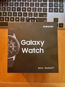 NEW Samsung Galaxy Watch (46mm, GPS, Bluetooth) – Silver/Black (US Version)