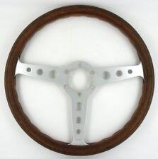 Genuine early Momo Indy Wood rim steering wheel, 350mm. Rare stacked logo    7B