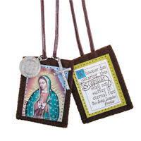 Our Lady of Guadalupe + St. Benedict Medal + Crucifix Brown Scapular Colorful