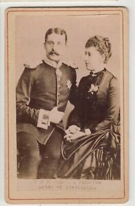 Royal CDV-Prince and Princess Henry of Battenberg, daughter of Queen Victoria