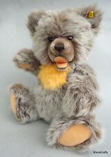 Steiff Zotty Teddy Bear Fur Plush big 40cm 16in Growler ID Button Tag 1980s Vtg