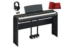 Yamaha P125 Black Pianoforte digitale con stand + pedaliera + cuffie + coprit...