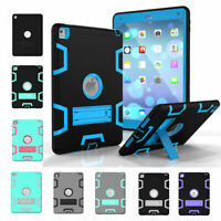 For iPad 9.7 6th Generation 2018/5th Gen Hybrid Heavy Duty Stand Shockproof Case