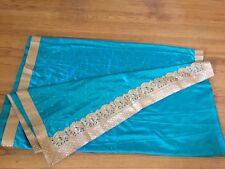 NEW Indian designer soft synthetic silk Traditional Saree-Border and Blouse