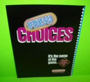 Play Choice 10 Arcade FLYER Nintendo Fresh Choices 1988 Video Game Art Sheet