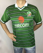 National Ireland Team vintage retro replica soccer jersey in forest green colour