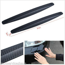 2X Carbon Fiber Anti-rub Protector Bars Body Corner Guard Auto Car Decor Strips