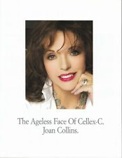 JOAN COLLINS - 4 Page Promotional Brochure For Cellex-C Cosmetics 2007 C#40