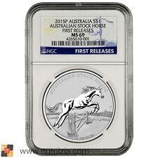 AUSTRALIA 1 Dólar 2015 Australian Stock Horse (MS69) Certificada NGC - AUSTRALIE