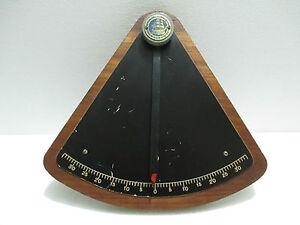 Vintage Maritime Marine Ship Brass Clinometers Original IMI