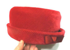 """Lady's Beautiful Modern Miss Red Textured Hat  - Inside 7"""" by 7"""""""
