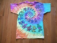 Vintage 1989 Grateful Dead T-Shirt Acid Bears Dancing Liquid Blue Tie-Dye