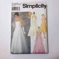 Simplicity 7068 Size 6 - 12 Misses' Evening Dress Detachable Long Overdress