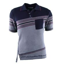 Gestreifte Figurbetonte Herren-Freizeithemden & -Shirts mit Kurzarm-Ärmelart ohne Mehrstückpackung