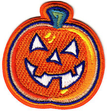 HALLOWEEN GLOW IN THE DARK PUMPKIN -Iron On Embroidered Patch-Holiday,Scary, Fun