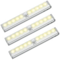 AMIR 3*10 LED PIR Motion Sensor Wireless Night Lights Battery_Cabinet Stair Lamp