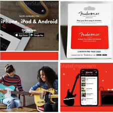 Fender Play 3 Month Prepaid Card Beginner Lessons App Acoustic + Electric Guitar