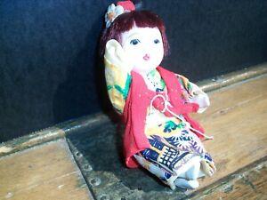 "Vintage 6"" Japanese Ichimatsu Gofun Doll"