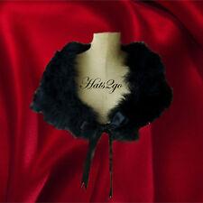 Black Feathershrug/stole/wrap satin ties Great GatsbyVintage style MADE TO ORDER