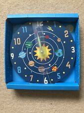 Brand New In Box Childrens Space Theme Wall Clock