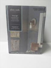 Allen + Roth Winbrell 1-Light Brushed Nickel Traditional Vanity Light 0612658