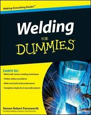 Welding for Dummies Book~Stick~TIG~MIG~Equipment~Metals~Safety~Techniques~NEW