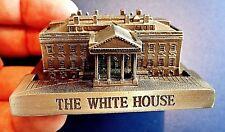 """THE WHITE HOUSE"" ARCHITECTURE MODEL BUILDING REPLICA SOUVENIR PEWTER WASHGTN DC"