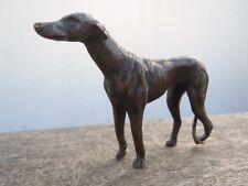 Bronze animalier chien lévrier sculpture d'époque 19ème