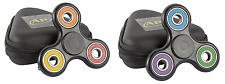 2 Rainbow Plastic Fidget Spinners with Cases ABS Plastic Ceramic Ball Bearings
